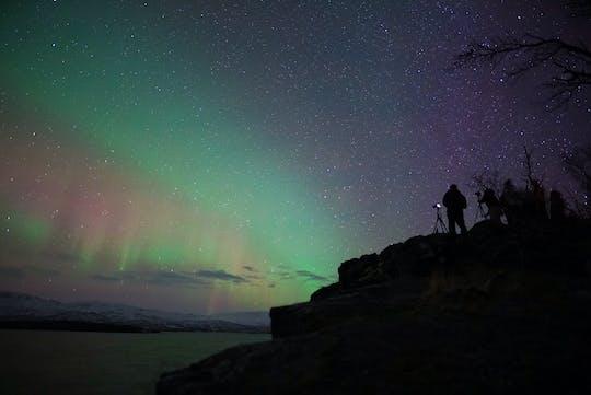 Tour più lungo dell'aurora boreale da Abisko con cena