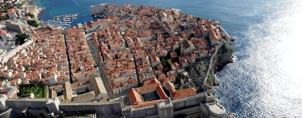 Crucero panorámico en barco de cristal desde el puerto de la ciudad vieja de Dubrovnik