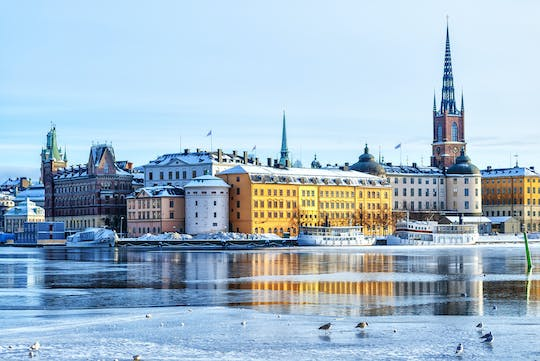 Stockholm winter city kayak tour