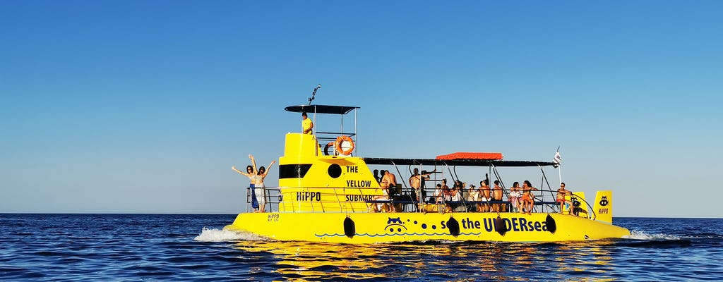 Balade en bateau à bord du Hippo Submarine à Lindos et baignade dans la baie de Navarone