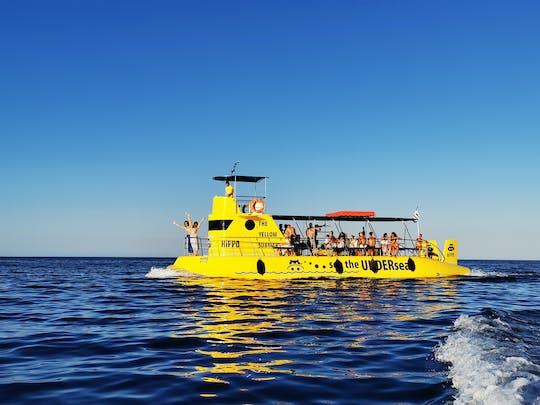 Boat ride on Hippo Submarine in Lindos and swim at Navarone Bay