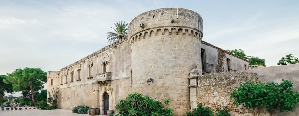 Sicilian wine tasting in a castle and historical garden near Syracuse