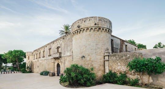 Sicilian wine tasting in a castle and historical garden near Syracuse
