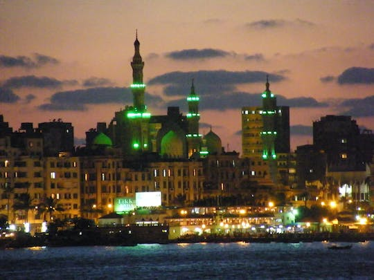 Alexandria night tour with sea food dinner