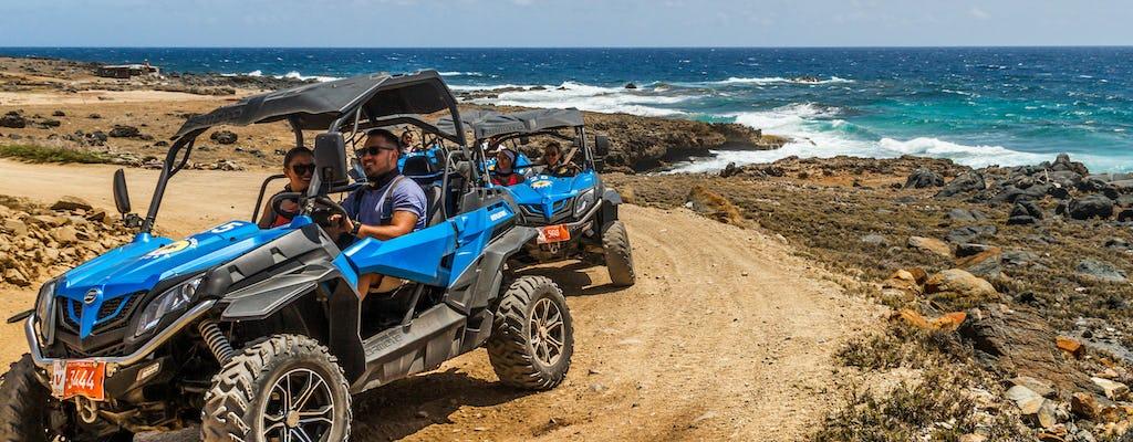 Tour off-road de meio dia em Aruba com mergulho com snorkel e encontro com flamingo