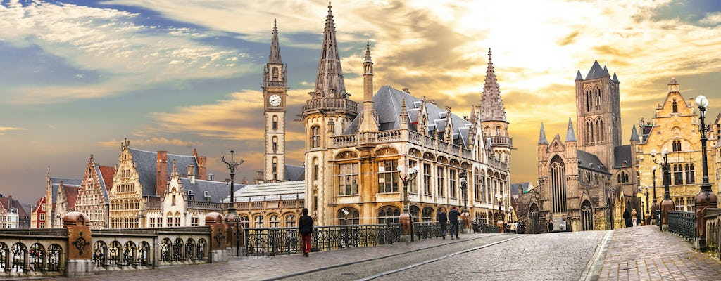Walking tour in Ghent with a self-guided city trail