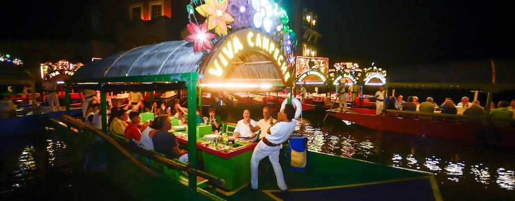 Xoximilco-Bootsfahrt mit Abendessen und Transfers