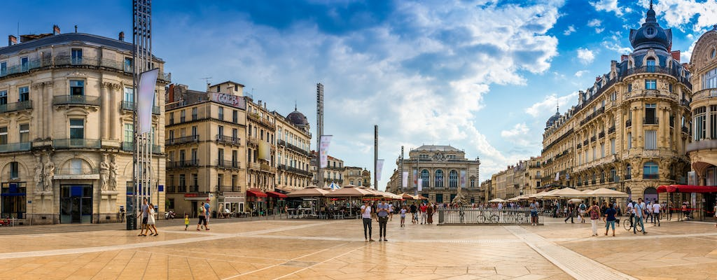 Walking tour in Montpellier with a self-guided city trail