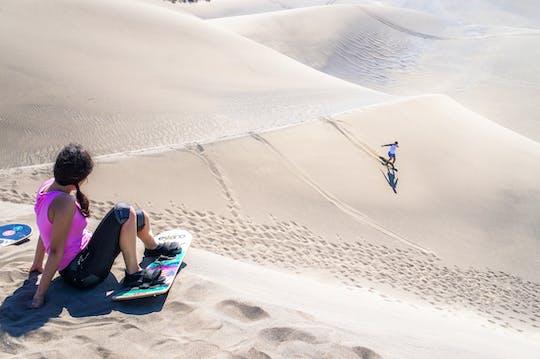 Aventura de sandboard em Chachalacas