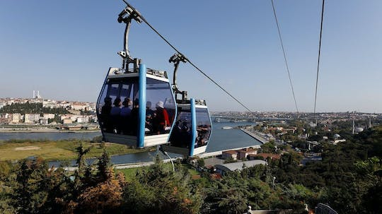 The tour of Golden Horn and Miniaturk Park tour in Istanbul