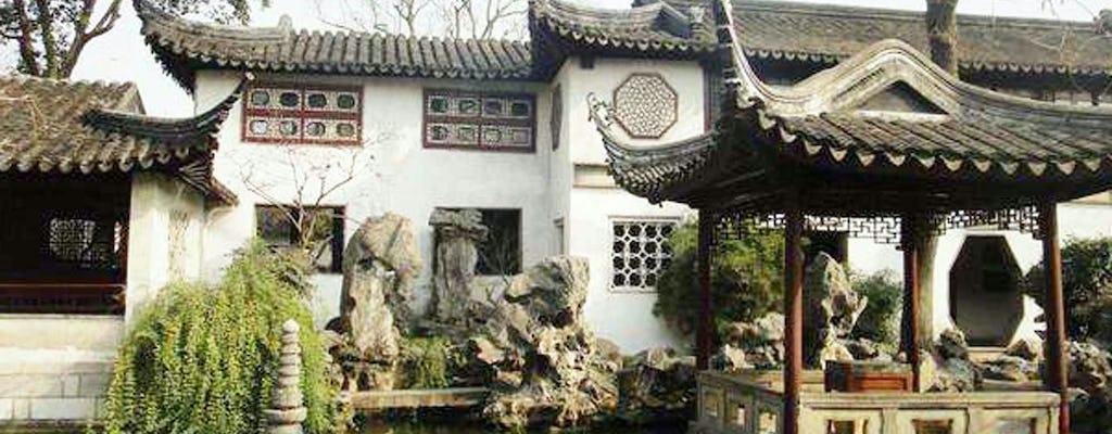 Tour privato di un'intera giornata Giardino di Suzhou Lingering e città acquatica di Zhouzhuang da Shanghai