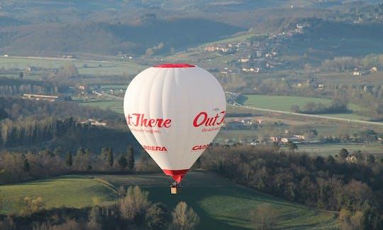 Полет на воздушном шаре над Сиена в Тоскане