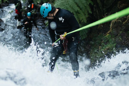 Glowworm canyoning adventure experience