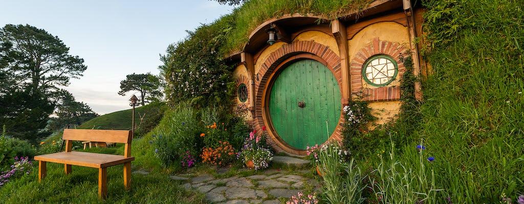 Experiência na Terra Média - cenário do filme Hobbiton e passeio pela caverna Glowworm