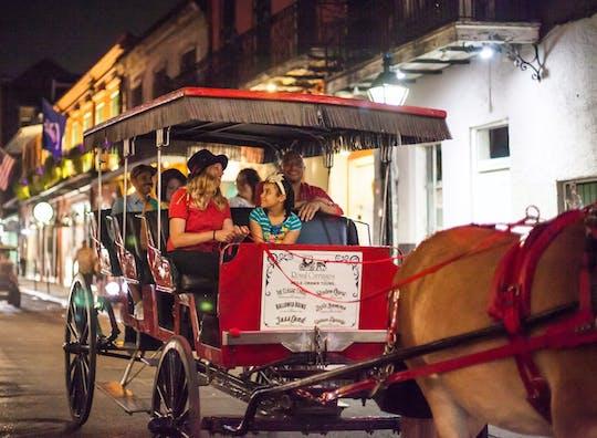 História e passeio de carruagem assombrada em Nova Orleans