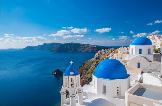 Cruzeiro matinal joias de Santorini