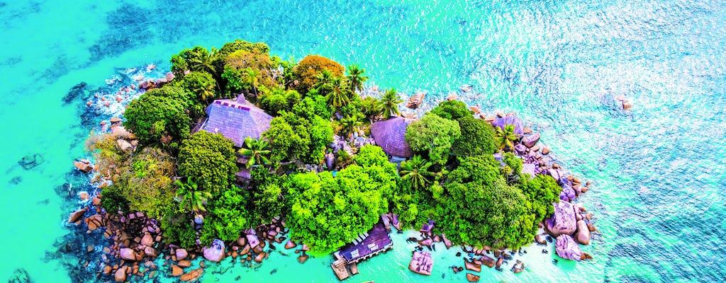 Excursion en avion et hélicoptère aux îles Praslin et La Digue au départ de Mahé