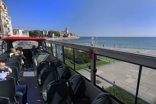 Gijón city tour hop-on hop-off bus tickets