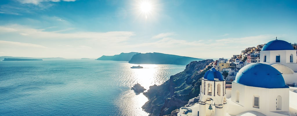 Diamentowy poranny rejs na Santorini