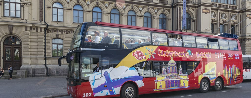 City Sightseeing hop-on hop-off bus tour of Helsinki