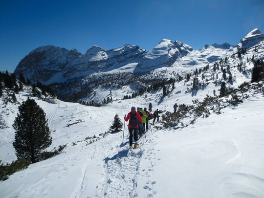 Snowshoe hiking in Bergen