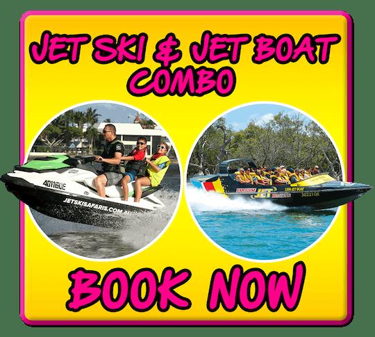 Express jet boat e 30 minutos de combinação de jet ski