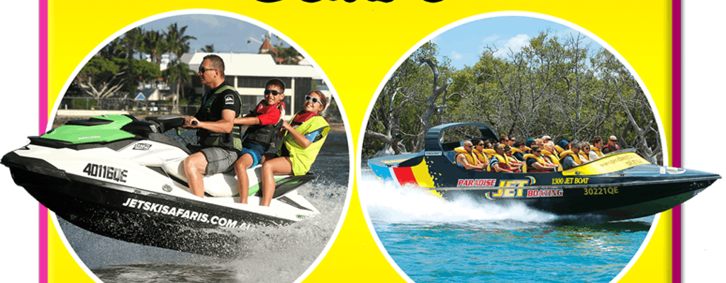 Express jet boat and 1,5 hours jet ski combo
