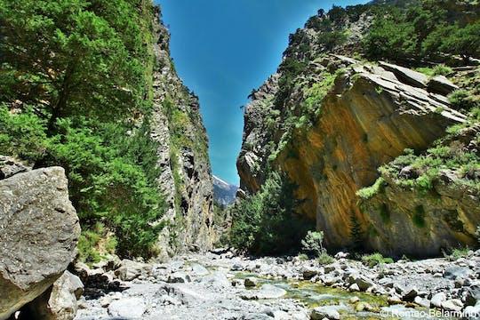 Tour di alto livello della gola di Samaria da Rethymno