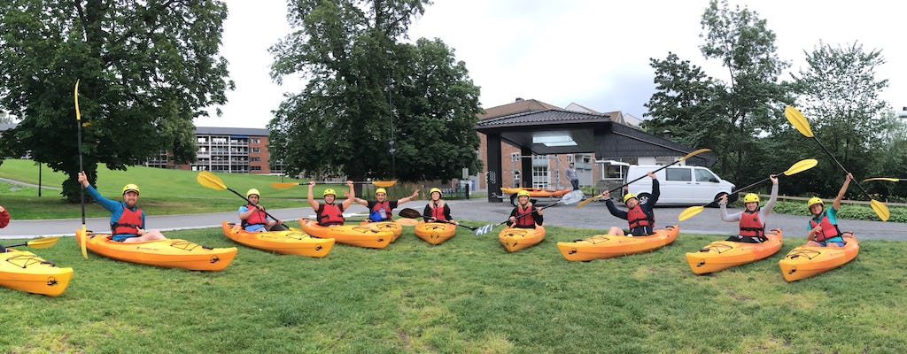 Paddling tour along the Akerselva river in Oslo