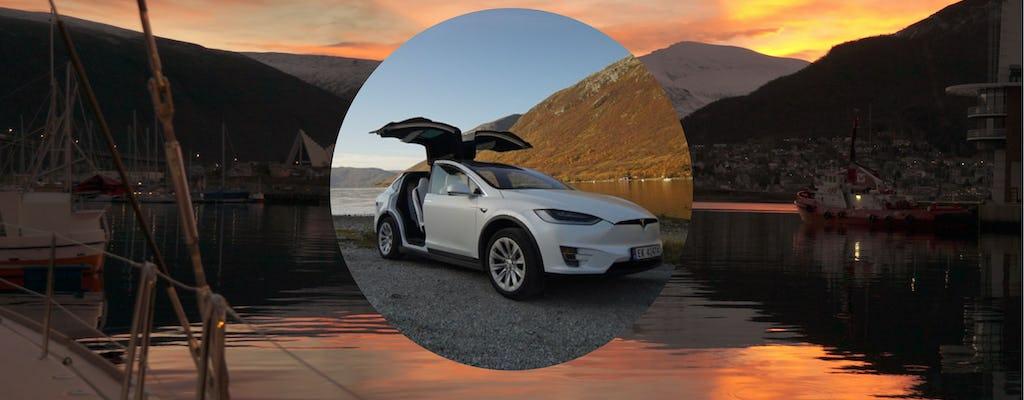 Visite privée de Tromsø dans une voiture électrique TeslaX