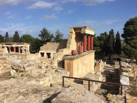 Wycieczka z przewodnikiem po Knossos i Heraklionie z Chanii
