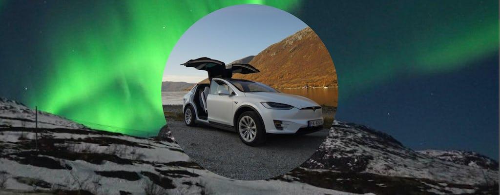 Private Tromsø Nordlichttour in einem TeslaX-Auto