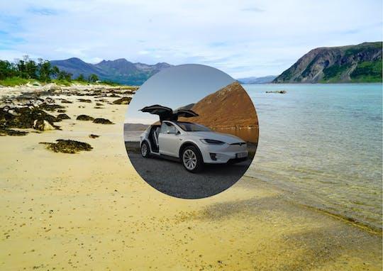 Visite privée du fjord au départ de Tromsø dans une voiture TeslaX