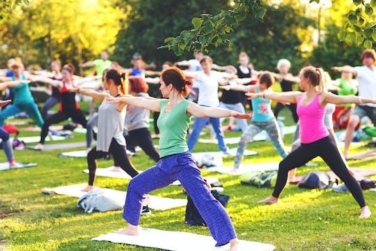 Sesión privada de vacaciones de yoga en Atenas