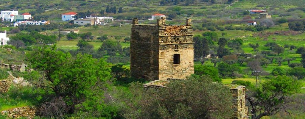 Visita guiada privada a Tinos y picnic con delicias locales.