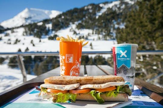 Déjeuner aux restaurants de la station de ski de Grandvalira