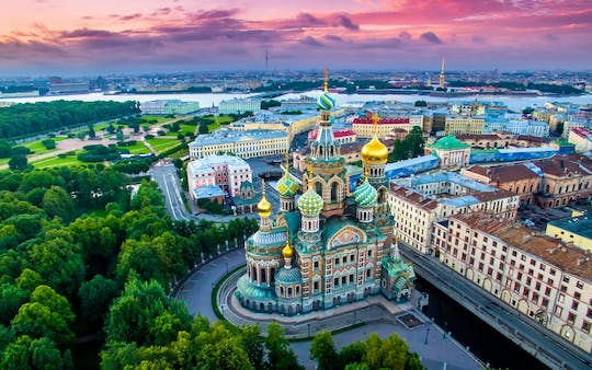 Evening sightseeing bus tour of Saint Petersburg
