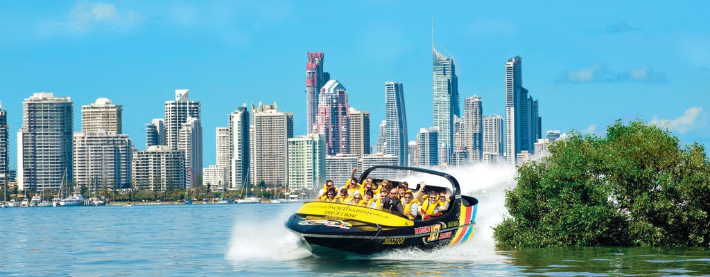 Premium triple challenge! jet boat, parasail and jet ski