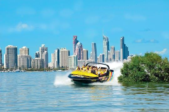 Triple défi premium! jet boat, parachute ascensionnel et jet ski
