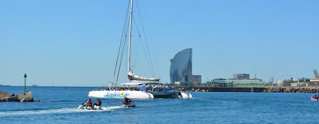 Crucero en catamarán con barbacoa para grupos en Barcelona