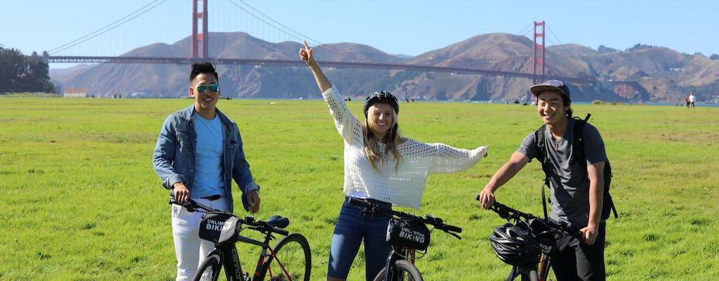 San Francisco eBike-verhuur met routekaart