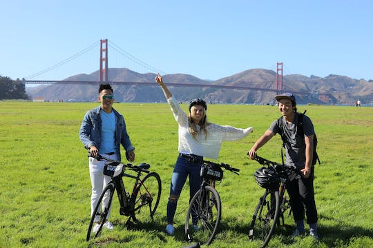 San Francisco eBike rental with route map