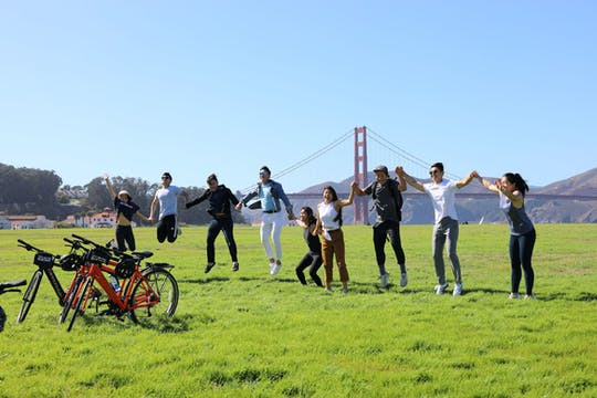 Golden Gate Bridge guided bike tour