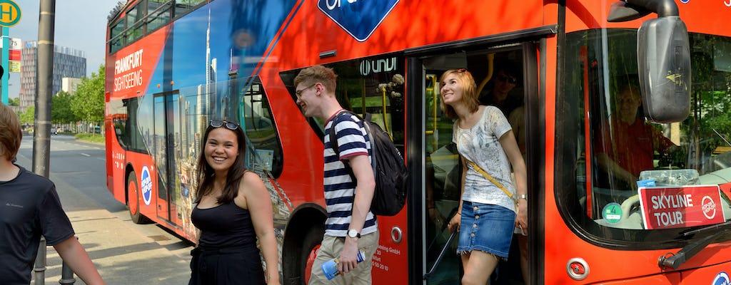 Frankfurt skyline tour by bus