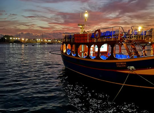 Valletta Two Harbours Cruise by Night