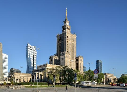 Visita guiada privada sin colas al Palacio de Cultura y Ciencia y al centro de Varsovia