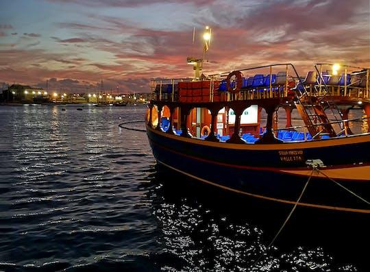 Croisière nocturne dans les deux ports de La Valette