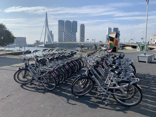 Rotterdam bike rental for 1 or 4 hours