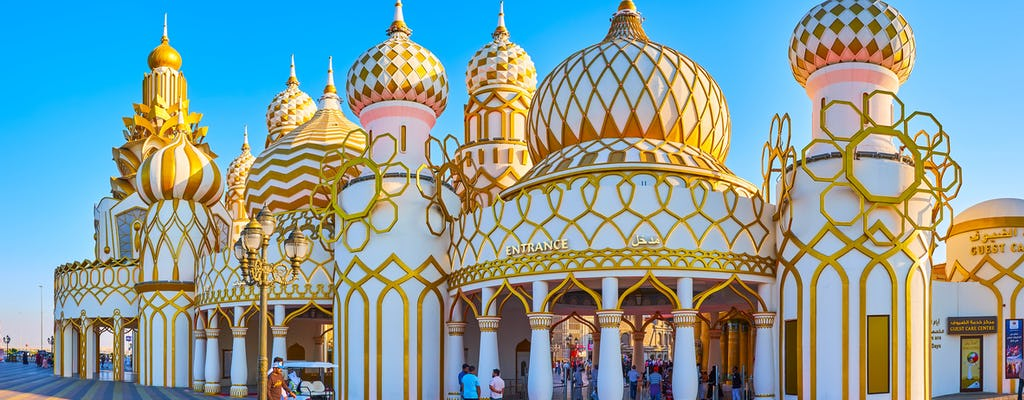 Miracle Garden, Global Village and Blue mosque Polish tour from Dubai