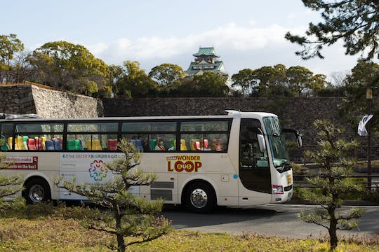 2 day Osaka Wonder Loop Bus , 1 ride cruise and Subway 2-day ticket